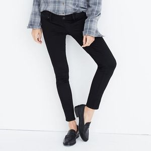 Madewell Maternity Skinny Jeans in Black Frost 25